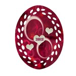 Pink Love Oval filigree Ornament - Ornament (Oval Filigree)
