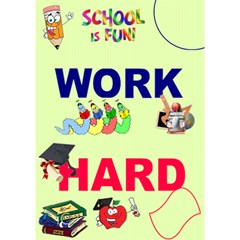 Work Hard By Malky   Work Hard 3d Greeting Card (7x5)   4u17igqljv9t   Www Artscow Com Inside