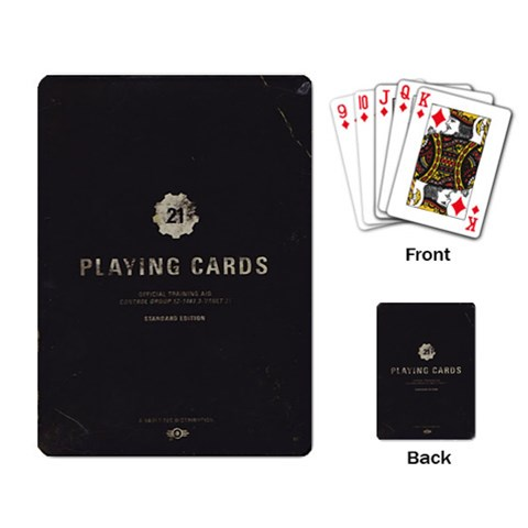 Fallout   Vault 21 Black Single Design By Casualtv   Playing Cards Single Design   L3lb1w05jhx7   Www Artscow Com Back