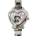 uhr-rosa-1 - Heart Italian Charm Watch