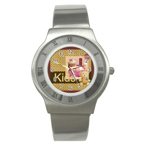 Kids By Joely   Stainless Steel Watch   8sb901ive2am   Www Artscow Com Front