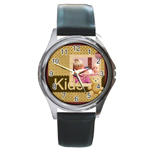 Kids By Joely   Round Metal Watch   46cddnq3lzrm   Www Artscow Com Front