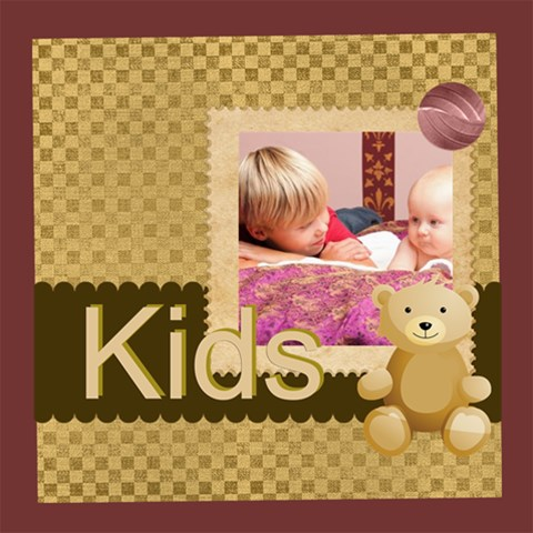 Kids By Joely   Scrapbook Page 8  X 8    2e6ub0inttcq   Www Artscow Com 8 x8 Scrapbook Page - 1