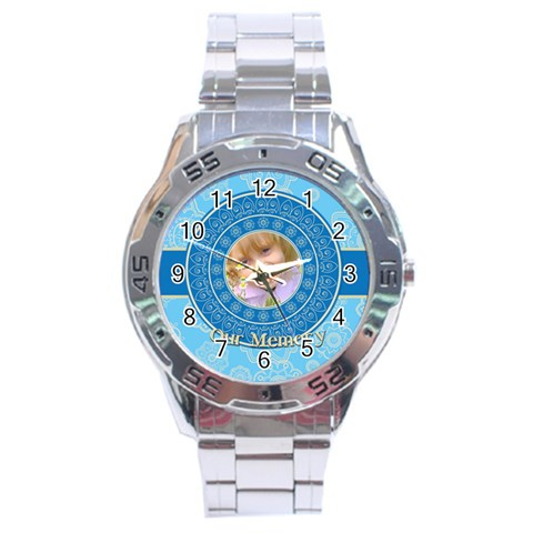 Memory By Divad Brown   Stainless Steel Analogue Watch   H8ew1tdpnkr8   Www Artscow Com Front