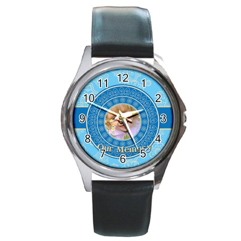 Memory By Divad Brown   Round Metal Watch   6dzq3lowdiuz   Www Artscow Com Front