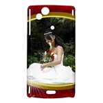 Red and Gold Sony Ericsson Xperia Arc Hardshell - Sony Xperia Arc Hardshell Case