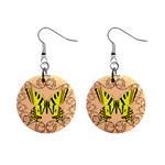 Yellow Butterfly earrings - 1  Button Earrings