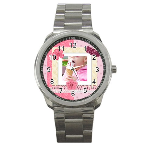 Pink World By Joely   Sport Metal Watch   Rz9fis9f5oi0   Www Artscow Com Front