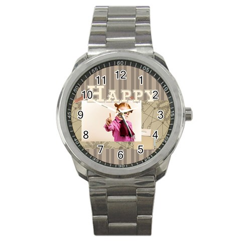 Happy Day By Joely   Sport Metal Watch   Ii52x1svzak3   Www Artscow Com Front