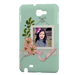 Samsung Galaxy Note Hardshell Case- Lace and Flowers - Samsung Galaxy Note Hardshell Case