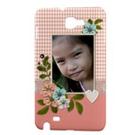 Samsung Galaxy Note Hardshell Case- Lace and Flowers 2 - Samsung Galaxy Note Hardshell Case