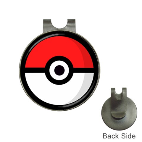 Pokeball Pin By !!!!!!!   Golf Ball Marker Hat Clip   Ola2rqbno87x   Www Artscow Com Front