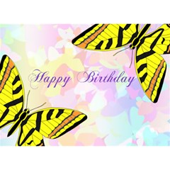 Butterfly Birthday By Kim Blair   Birthday Cake 3d Greeting Card (7x5)   K9qdxb673c9l   Www Artscow Com Front