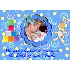 Blue Swirl Boy 3d Card By Kim Blair   Boy 3d Greeting Card (7x5)   9gi65p282qrr   Www Artscow Com Front