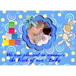 Blue Swirl Boy 3D card - BOY 3D Greeting Card (7x5)