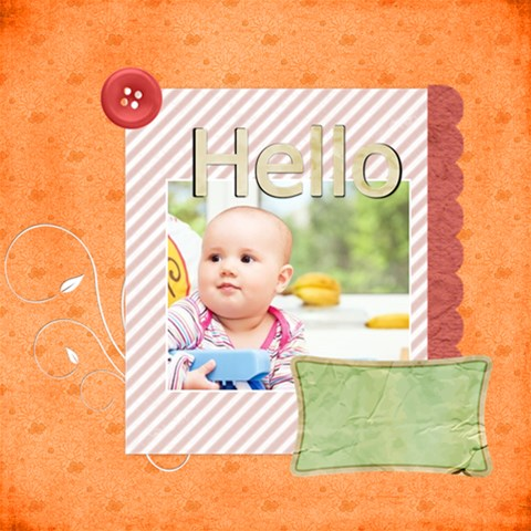 Hellow By Joely   Scrapbook Page 12  X 12    Th302iglqxdv   Www Artscow Com 12 x12 Scrapbook Page - 1
