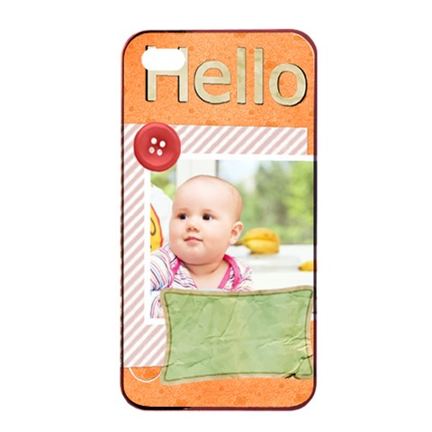 Hello By Joely   Apple Iphone 4/4s Seamless Case (black)   F2c5290c8dit   Www Artscow Com Front