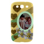 Hearts and Flowers Samsung Galaxy SIII Hardshell Case - Samsung Galaxy S III Hardshell Case