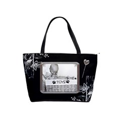 Black Proud Framed Classic Shoulder Handbag By Lil    Classic Shoulder Handbag   990sp1b7vq4a   Www Artscow Com Front