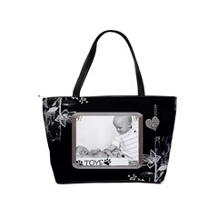 Black Proud Framed Classic Shoulder Handbag By Lil    Classic Shoulder Handbag   990sp1b7vq4a   Www Artscow Com Back