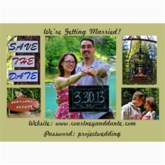 Save The Date Final By Courtney Everson   5  X 7  Photo Cards   4c2xo68n7koh   Www Artscow Com 7 x5 Photo Card - 4
