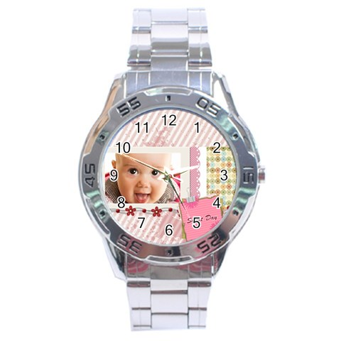Sweet Day By Joely   Stainless Steel Analogue Watch   Kss58cgkdfx8   Www Artscow Com Front