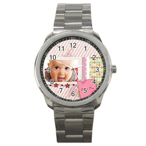 Sweet Day By Joely   Sport Metal Watch   3lptruk8oo06   Www Artscow Com Front