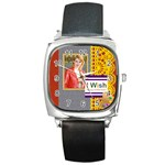 happy day - Square Metal Watch