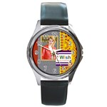 wish day - Round Metal Watch