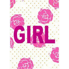 It s A Girl Card By Giggles Corp   Girl 3d Greeting Card (7x5)   Xrmbhbcungx7   Www Artscow Com Inside