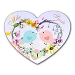 Love birds mousepad - Mousepad (Heart)