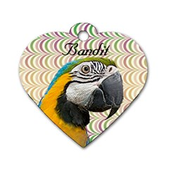 Bandit Heart Dog Tag 2 Sides By Maryanne   Dog Tag Heart (two Sides)   Uqoctfkfjrn6   Www Artscow Com Back