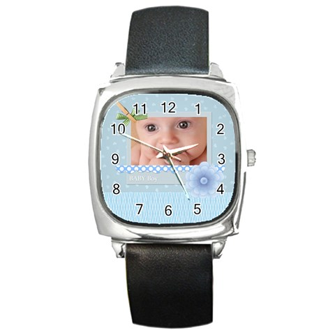 Baby Boy By Joely   Square Metal Watch   Sm09ysidvlhl   Www Artscow Com Front