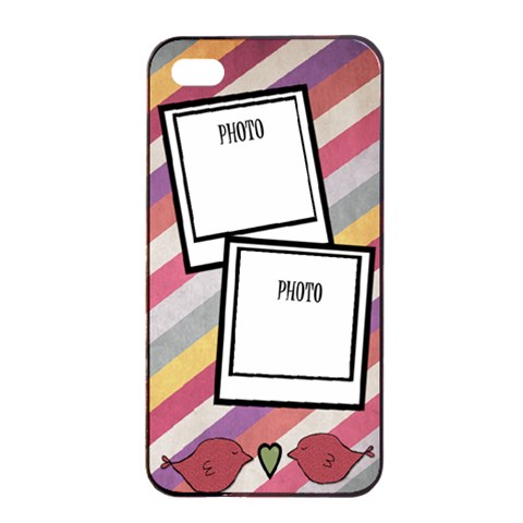 Iphone 4 Sripe Case By Amanda Bunn Front