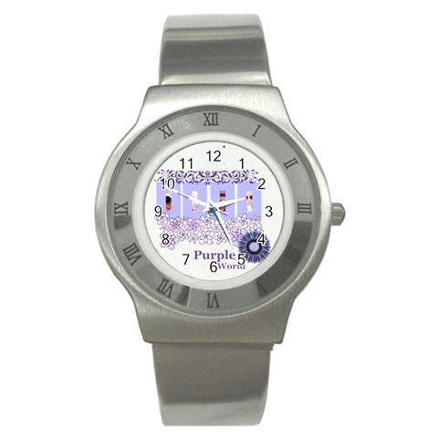 Purple World By Joely   Stainless Steel Watch   Pdqgaaj0rlpe   Www Artscow Com Front