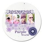 purple world - Magnet 5  (Round)