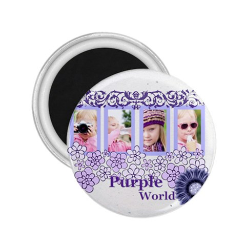 Purple World By Joely   2 25  Magnet   6m2drzmp8m53   Www Artscow Com Front