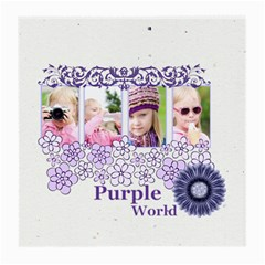 Purple World By Joely   Medium Glasses Cloth (2 Sides)   8j5omxubz9xi   Www Artscow Com Front