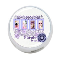 Purple World By Joely   4 Port Usb Hub (two Sides)   Ntk8lb6vndyw   Www Artscow Com Back