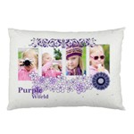 purple flower - Pillow Case (Two Sides)