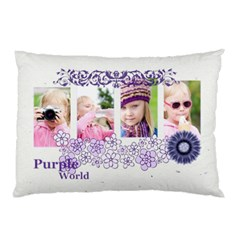 Purple Flower By Shaindy   Pillow Case (two Sides)   70fr2o2quc39   Www Artscow Com Back