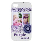 purple world - Apple iPhone 4/4S Hardshell Case