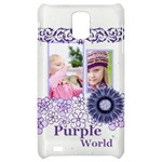 purple world - Samsung Infuse 4G Hardshell Case