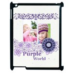 purple world - Apple iPad 2 Case (Black)