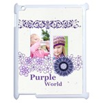 purple world - Apple iPad 2 Case (White)