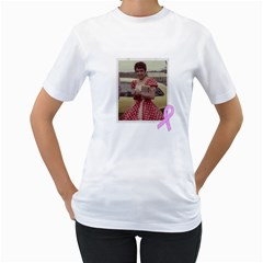 Breast Cancer Tee Shirt By Kim Blair   Women s T Shirt (white) (two Sided)   Xjjc1cwozam5   Www Artscow Com Front