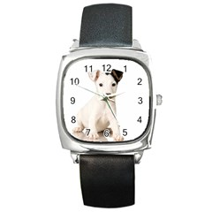 55190649 Black Leather Watch (square) by joscollection