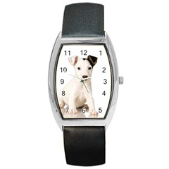 55190649 Black Leather Watch (tonneau) by joscollection
