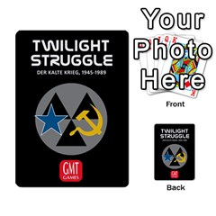 Twilight Struggle German Part 1 By Martin Hoefer   Multi Purpose Cards (rectangle)   Zqz80vkjgnsm   Www Artscow Com Back 40