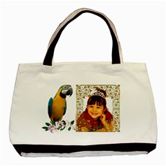 Macaw Classsic Tote Bag ( 2 Sides) By Kim Blair   Basic Tote Bag (two Sides)   A7soov1wioer   Www Artscow Com Front